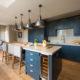 Kitchen real wood flooring